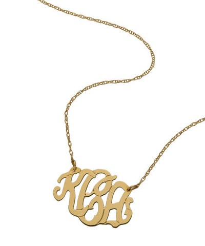 Small Oval Monogram Necklace