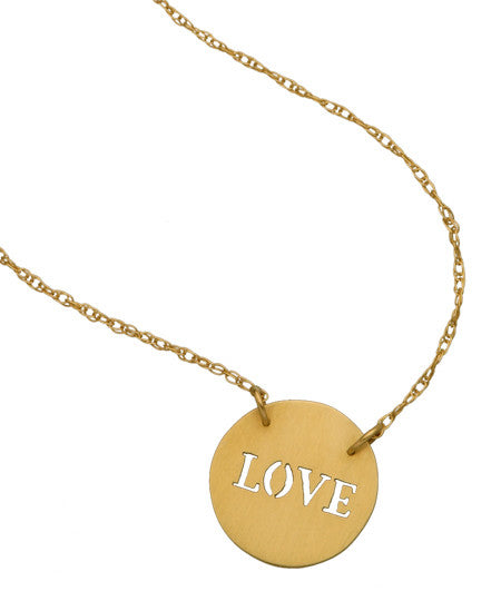 Love Cutout Necklace