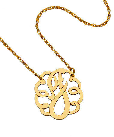 Small Swirly Initial Necklace