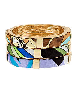 Covered Pattern Hinged Bangle