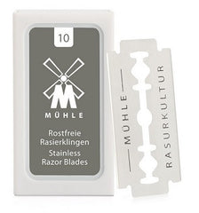 TRADITIONAL - 10 double edge blades from MÜHLE for safety razors