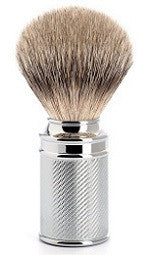 Traditional, Chrome Silvertip Badger Shaving Brush, HANDMADE