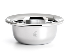 Shaving bowl from MÜHLE, stainless steel, chrome-plated