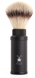 Travel shaving brush from MÜHLE, with Silvertip Fibre®