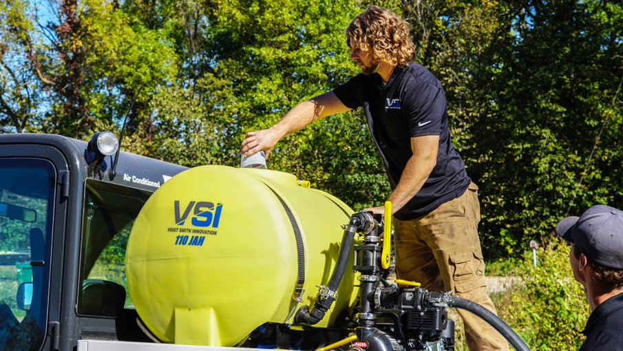 Mixing a Load in a VSI Jet Agitated Hydroseeder
