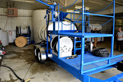 Front view of hydrated lyme sprayer