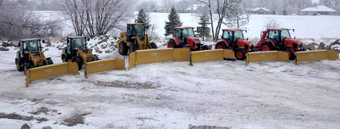 Metal Pless Plows ready for Winter