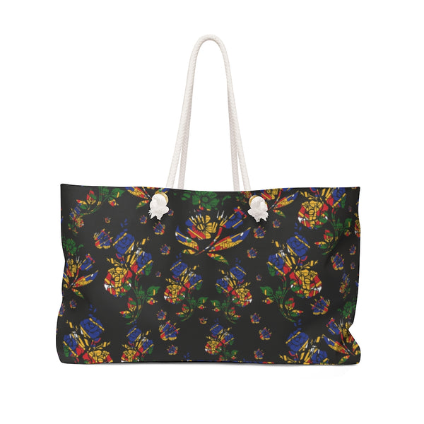 TMMG Haitian Flag Choublak Flower Weekender Bag