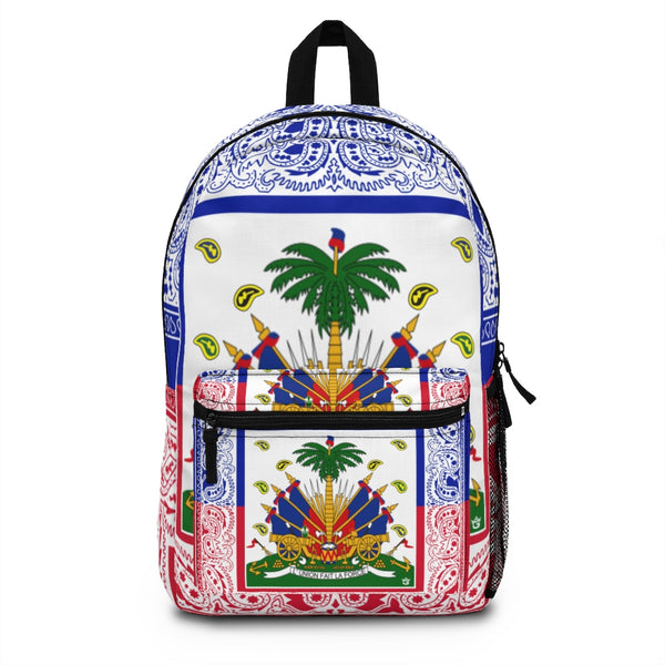 TMMG Haitian Flag Bandana Backpack (Made in USA)