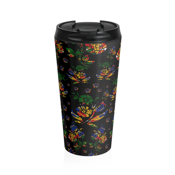 TMMG Haitian Flag Choublak Stainless Steel Travel Mug