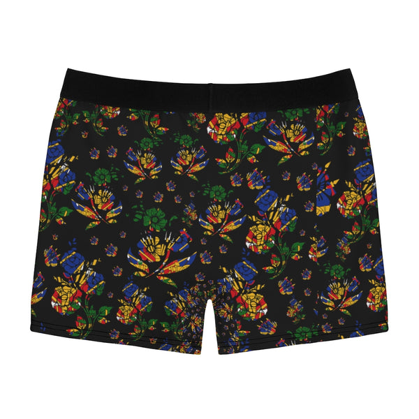 TMMG Haitian Flag Choublak Flower Men's Boxer Briefs
