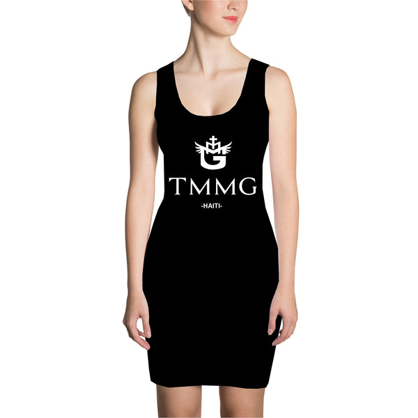 BLACK TMMG LOGO DRESS