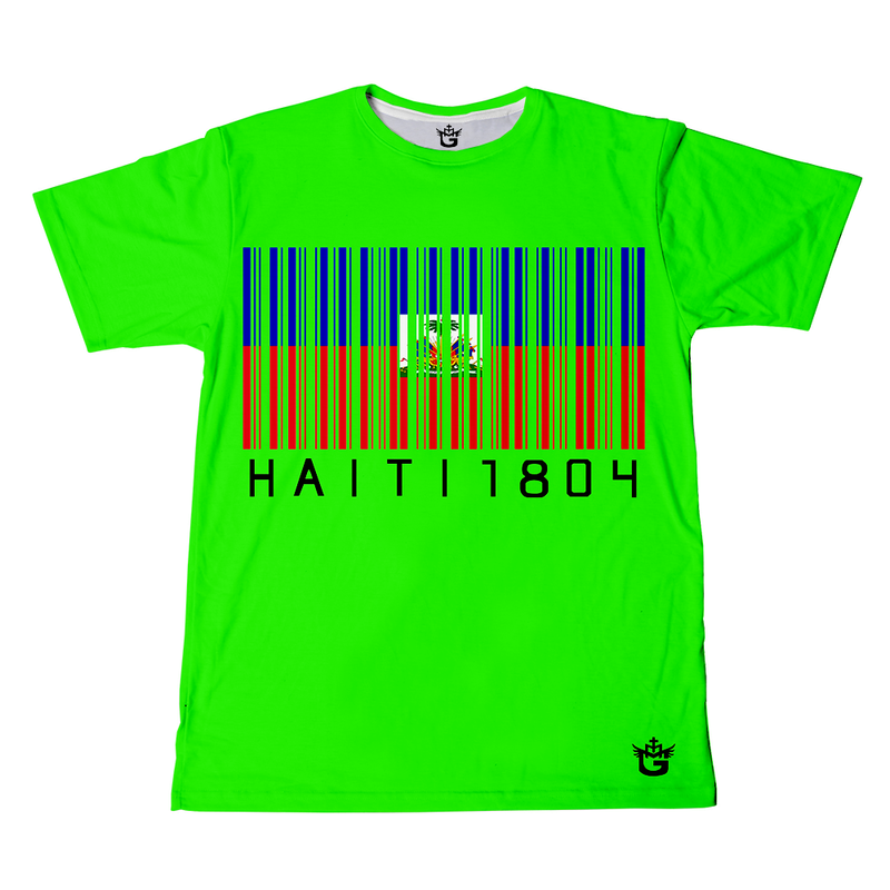 TMMG BLACK HAITI 1804  BAR CODE T-SHIRT