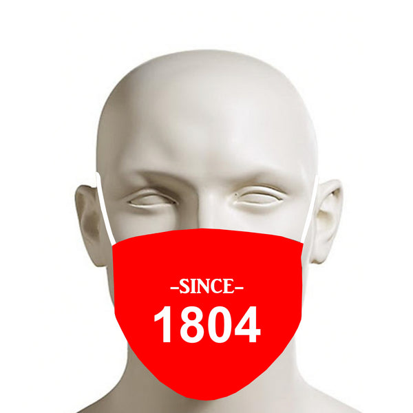 RED TMMG HAITI SINCE 1804 FACE MASK