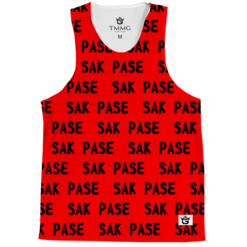TMMG RED & WHITE SAK PASE TANK TOP TOP