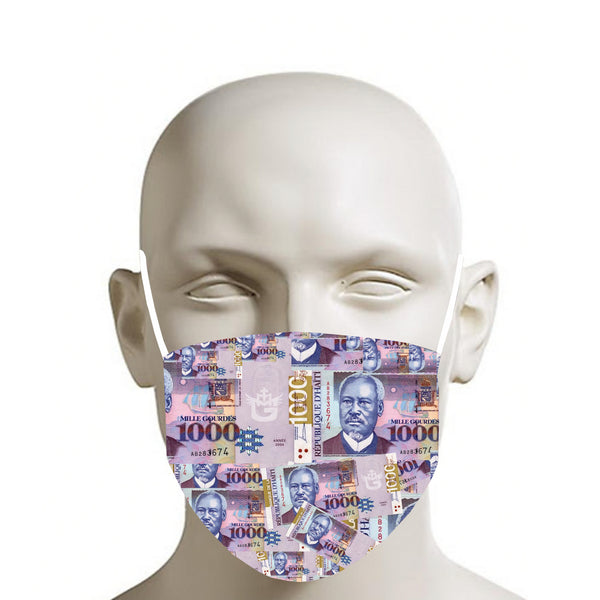 TMMG 1000 GDES HAITIAN MONEY FACE MASK