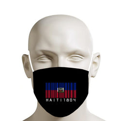 TMMG BLACK HAITI BAR CODE FACE MASK
