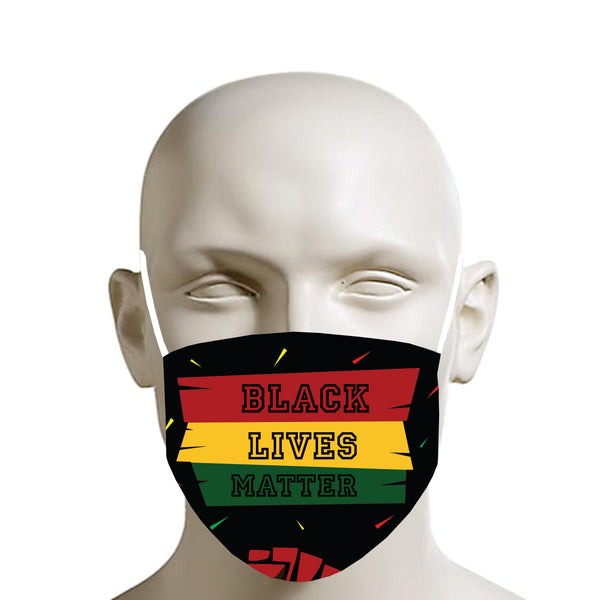 TMMG BLACK LIVES MATTER FACE MASK black font
