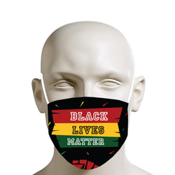 TMMG BLACK LIVES MATTER FACE MASK white font