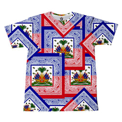 TMMG HAITIAN FLAG BANDANA ALL OVER T-SHIRT