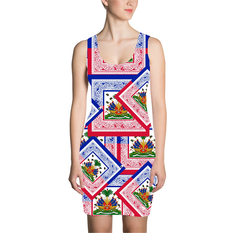 TMMG HAITIAN FLAG BANDANA DRESS