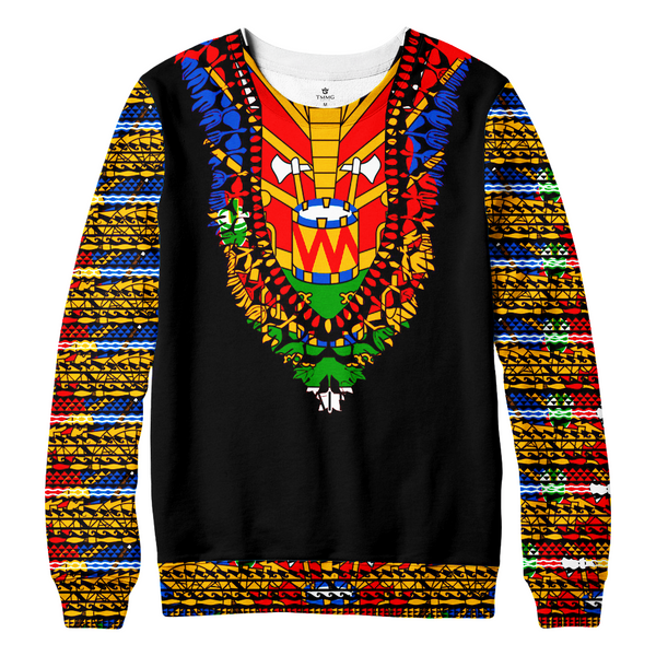 TMMG HAITIAN FLAG DASHIKI SWEATER S. ALL OVER