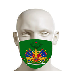 GREEN TMMG HAITIAN FLAG FACE MASK