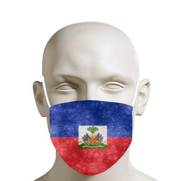 TMMG VINTAGE HAITIAN FLAG MOUTH MASK