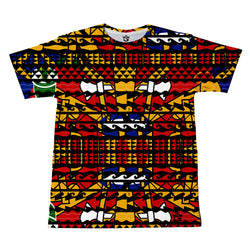 TMMG HAITIAN FLAG DASHIKI TRIBAL PRINT T-SHIRT