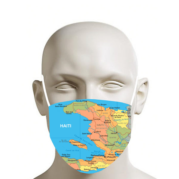 TMMG HAITI MAP MASK FACE MASK