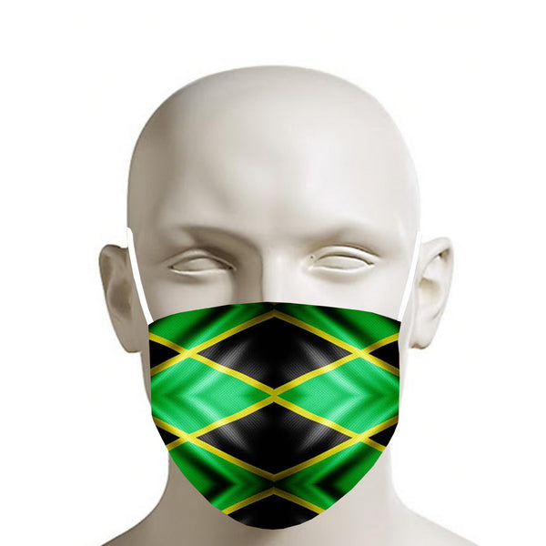 TMMG JAMAICAN FLAG MOUTH MASK