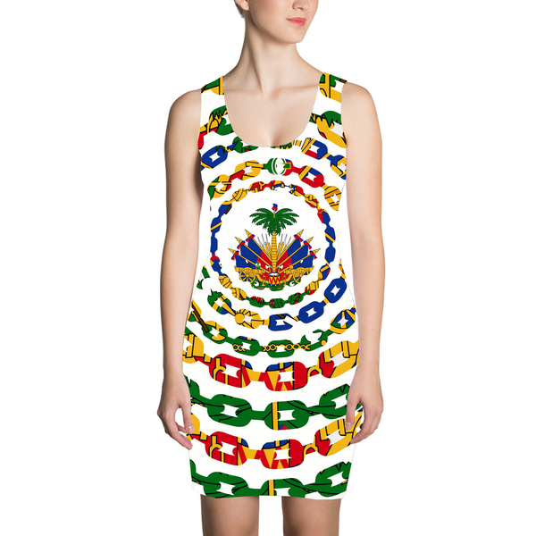 TMMG HAITIAN FLAG CHAINS ALL OVER DRESS
