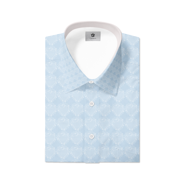CHAMBRAY TMMG LUXURY PLAID DRESS SHIRT INSPIRED BY EZILI DANTO