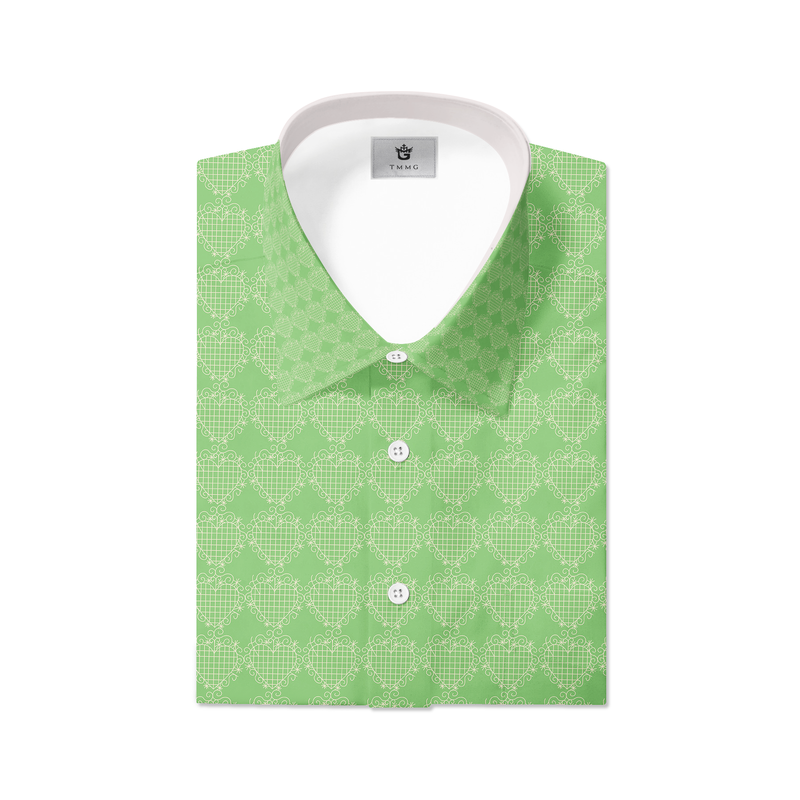 GREEN TMMG LUXURY PLAID DRESS SHIRT INSPIRED BY EZILI DANTO