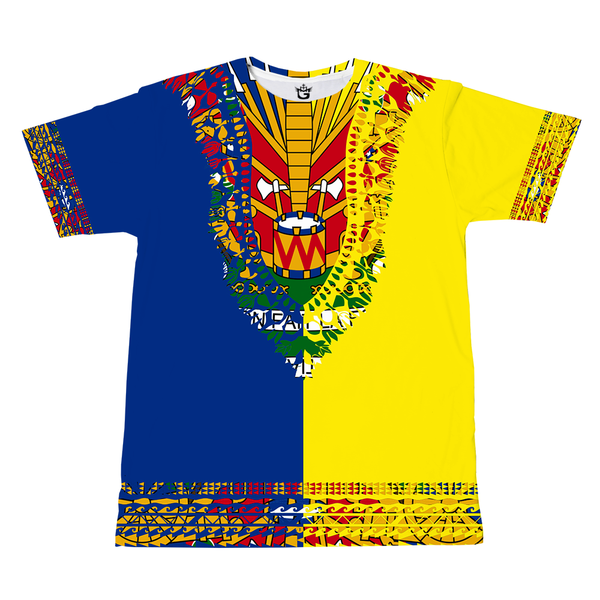 RED BLACK TMMG HAITIAN FLAG DASHIKI DUAL COLORS