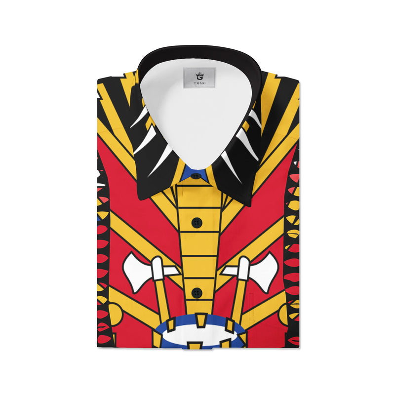 TMMG HAITIAN FLAG DASHIKI DRESS SHIRT
