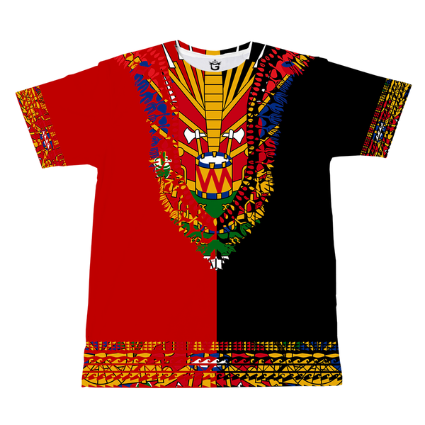 BLUE BLACK TMMG HAITIAN FLAG DASHIKI DUAL COLORS