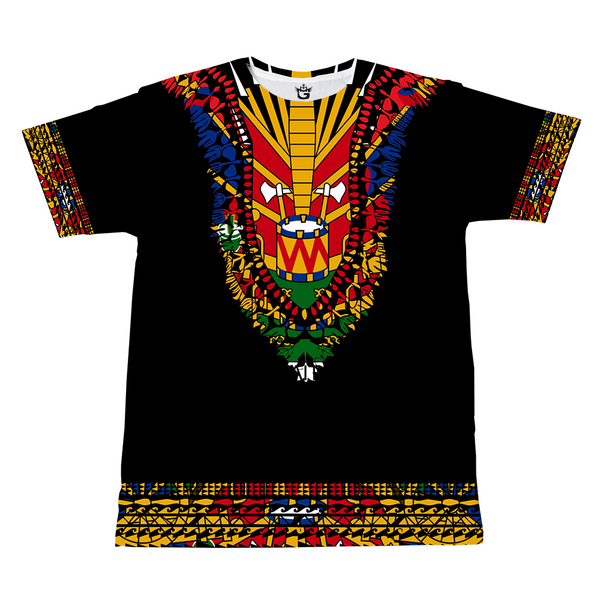 TMMG BLUE HAITIAN FLAG DASHIKI T-SHIRT