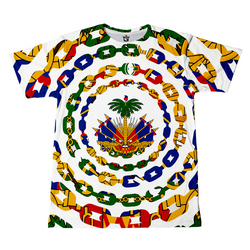 TMMG HAITIAN FLAG URBAN LINK ALL OVER T-SHIRT