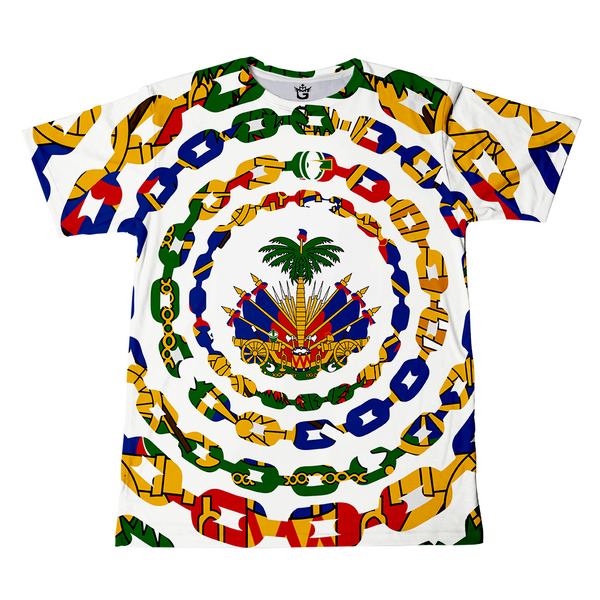TMMG HAITIAN FLAG CHAINS ALL OVER T-SHIRT