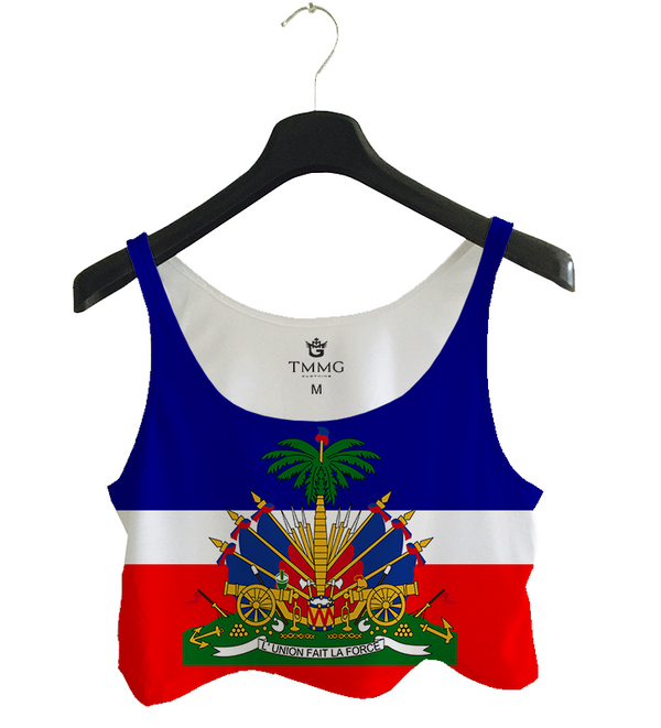 TMMG HAITIAN FLAG TANK TOP CROP TOP