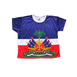 TMMG HAITIAN FLAG CROP TOP