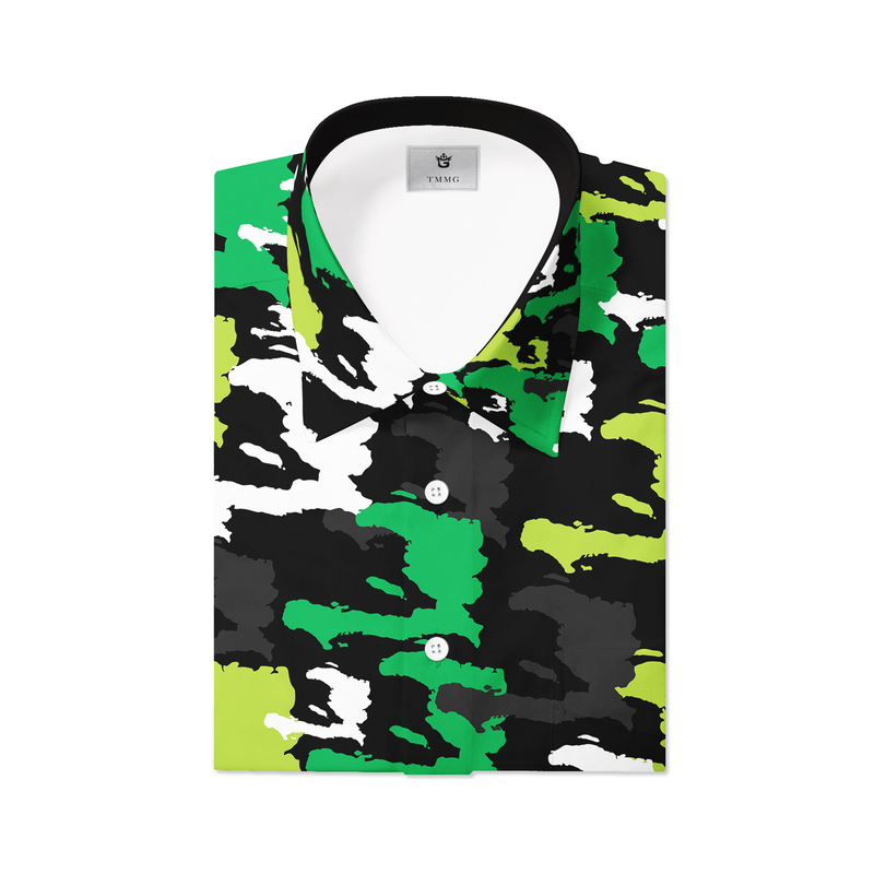 TMMG KHAKI HAITI CAMO MEN'S DRESS SHIRT