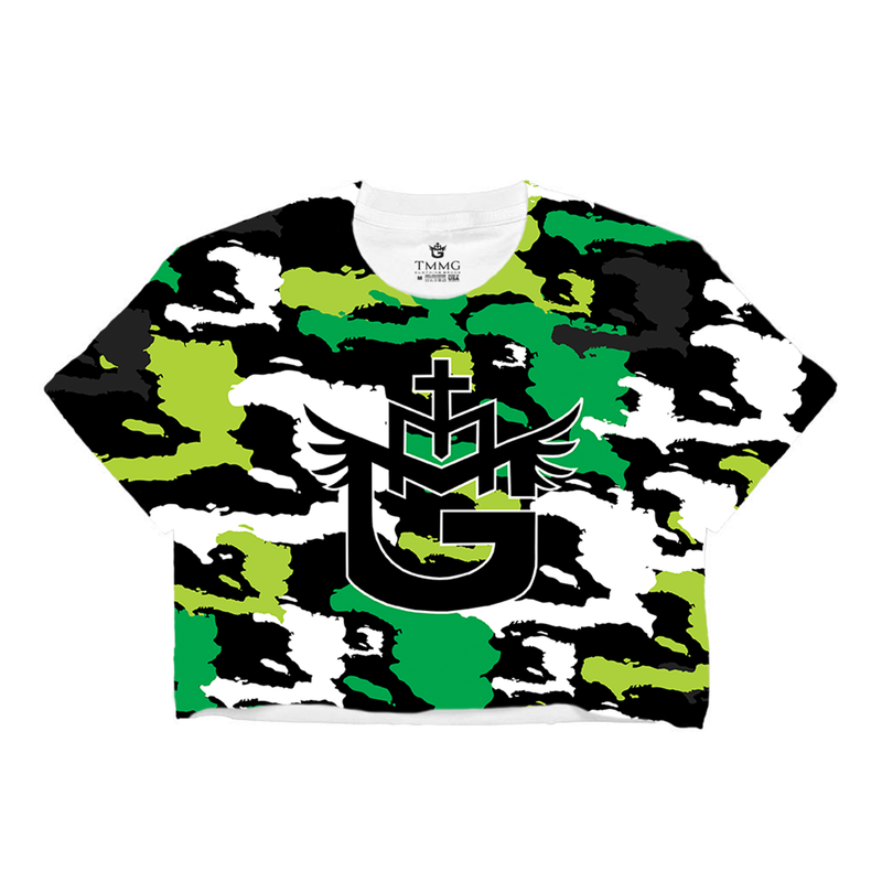 TMMG HAITI CAMO CROP TOP