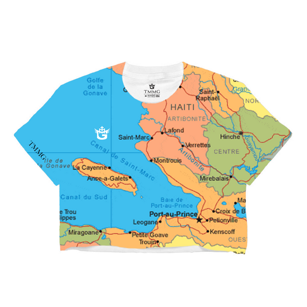 TMMG HAITI MAP CROP TOP T-SHRT