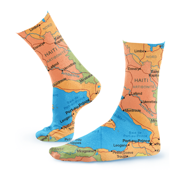 TMMG HAITI MAP SOCKS