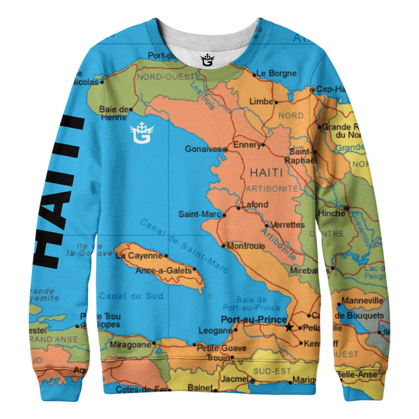 TMMG HAITI MAP SWEATER