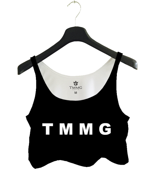 TMMG LIFE STYLE LETTER TANK TOP CROP