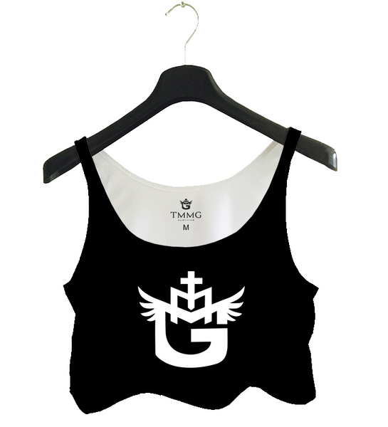 TMMG LOGO TANK TOP CROP TOP