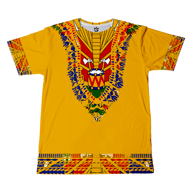 TMMG WHITE HAITIAN FLAG DASHIKI T-SHIRT